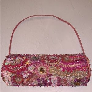 Pink Beaded Purse- M2